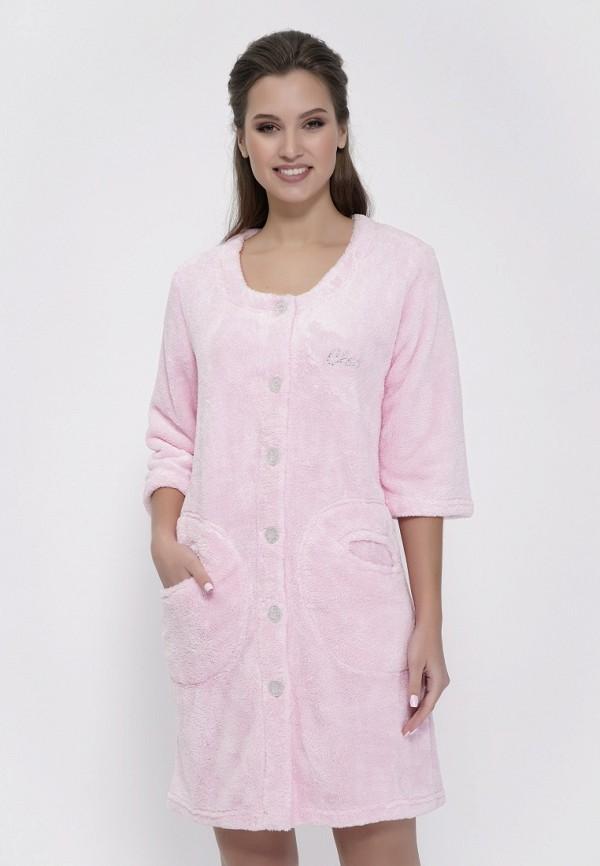 женский халат cleo, розовый