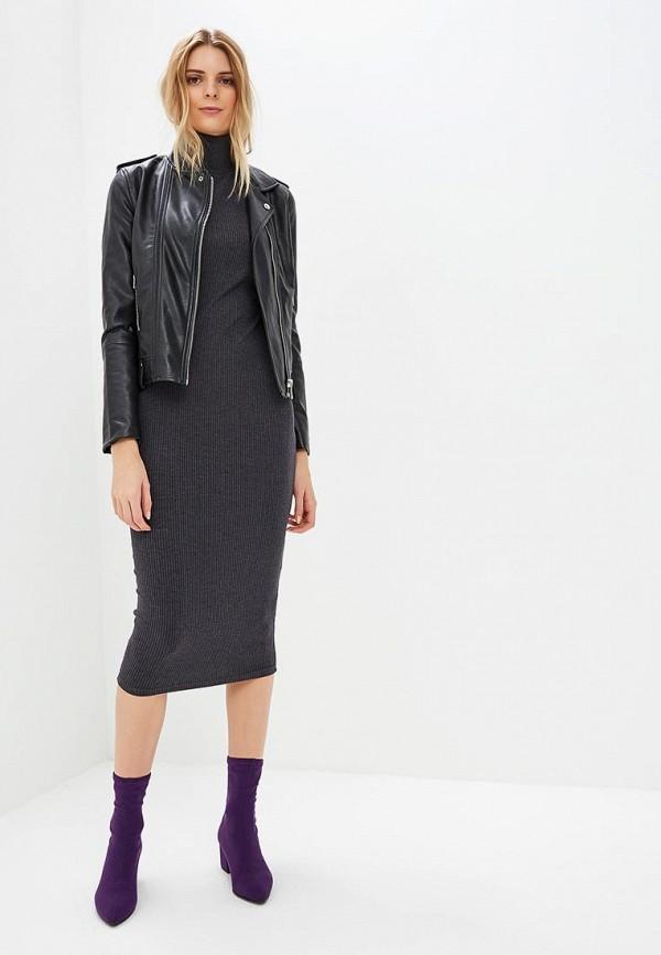 Купить Платье Louitex, 7144(1), mp002xw1h2t7, серый, Осень-зима 2018/2019