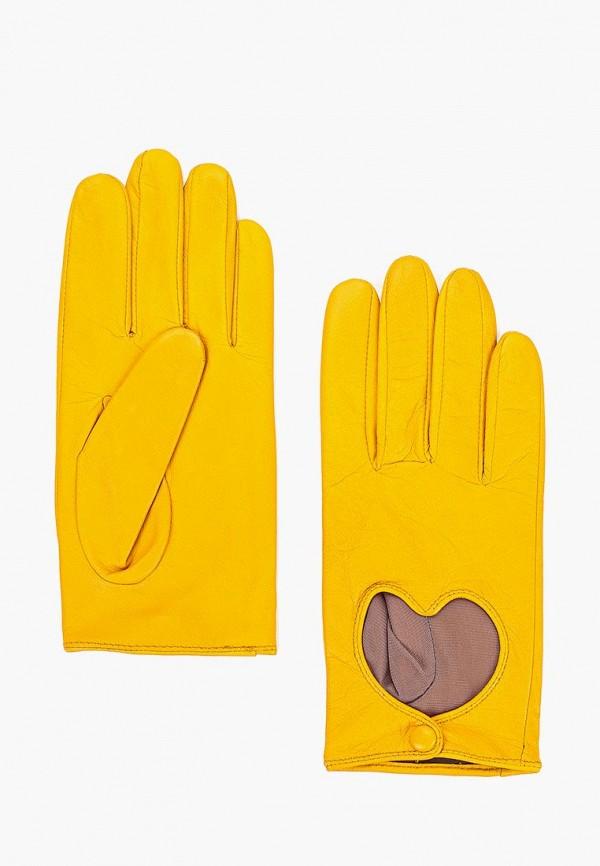 женские перчатки labbra, желтые