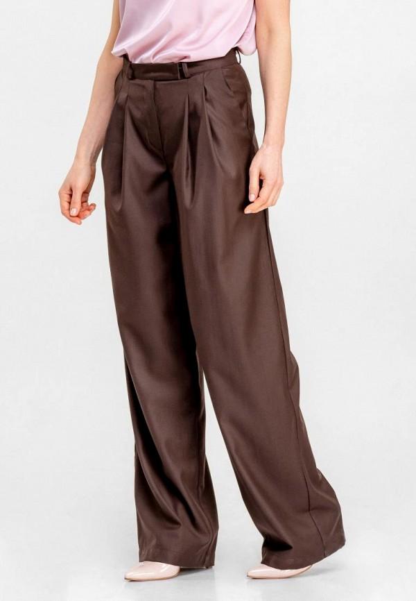 женские повседневные брюки dressinjoy by lipashova & malko, коричневые
