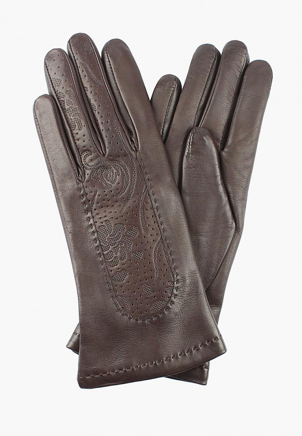 женские кожаные перчатки edmins, коричневые