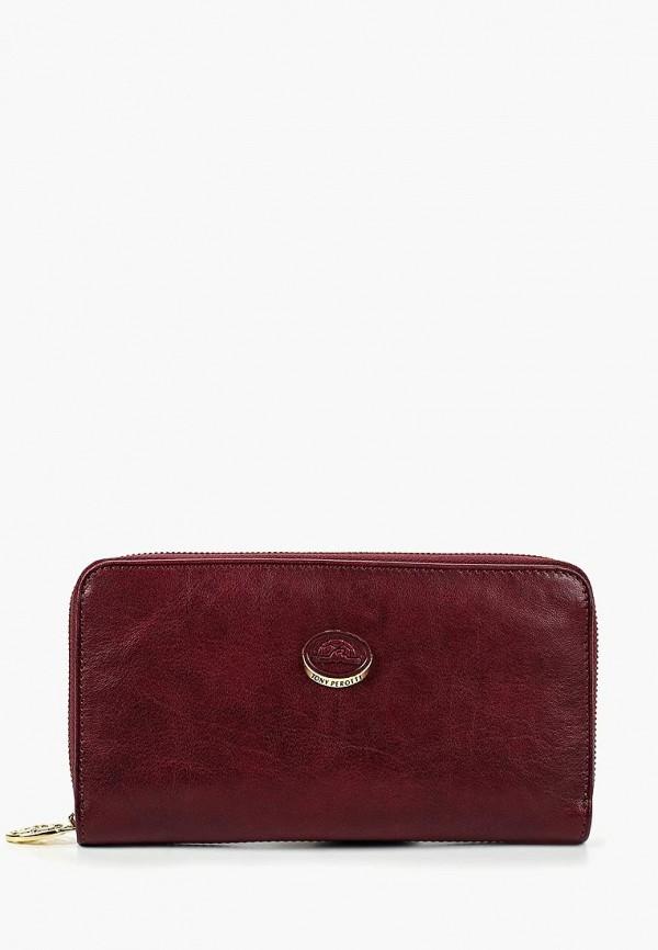 женский кошелёк tony perotti, бордовый