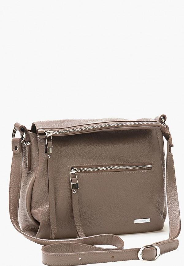 женская сумка alessandro birutti, коричневая