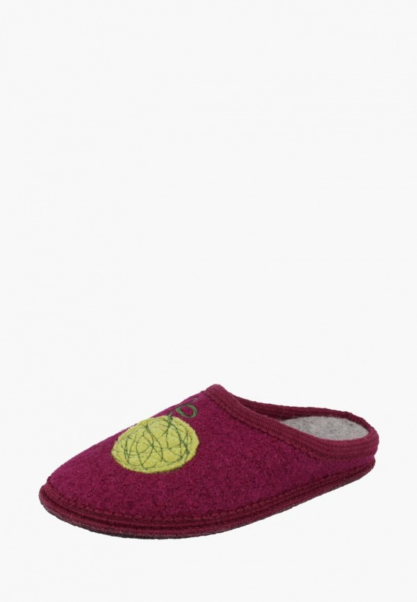 женские тапочки de fonseca, бордовые