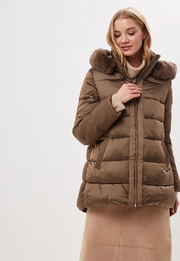 женская куртка conso wear, коричневая