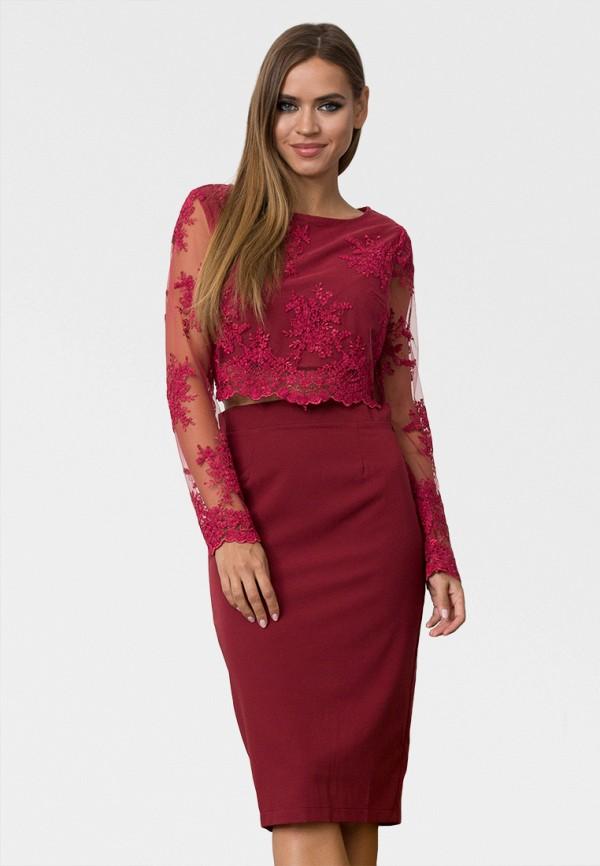 женский костюм zerkala, бордовый