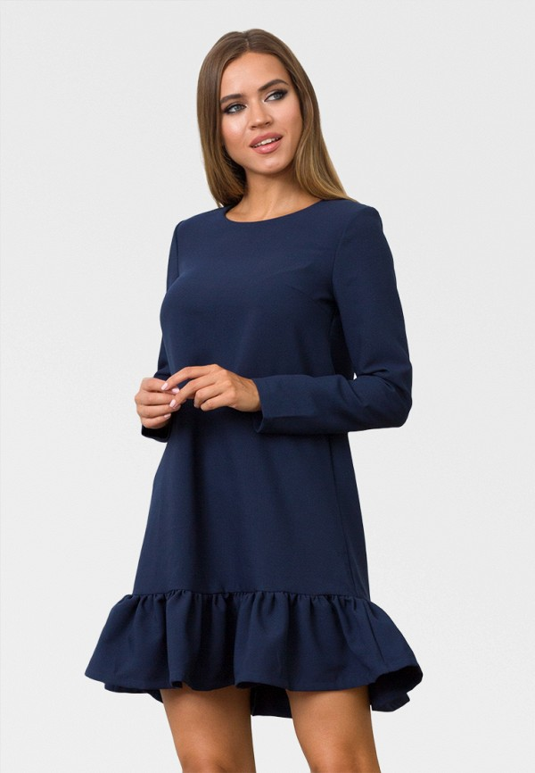 женское повседневные платье zerkala, синее