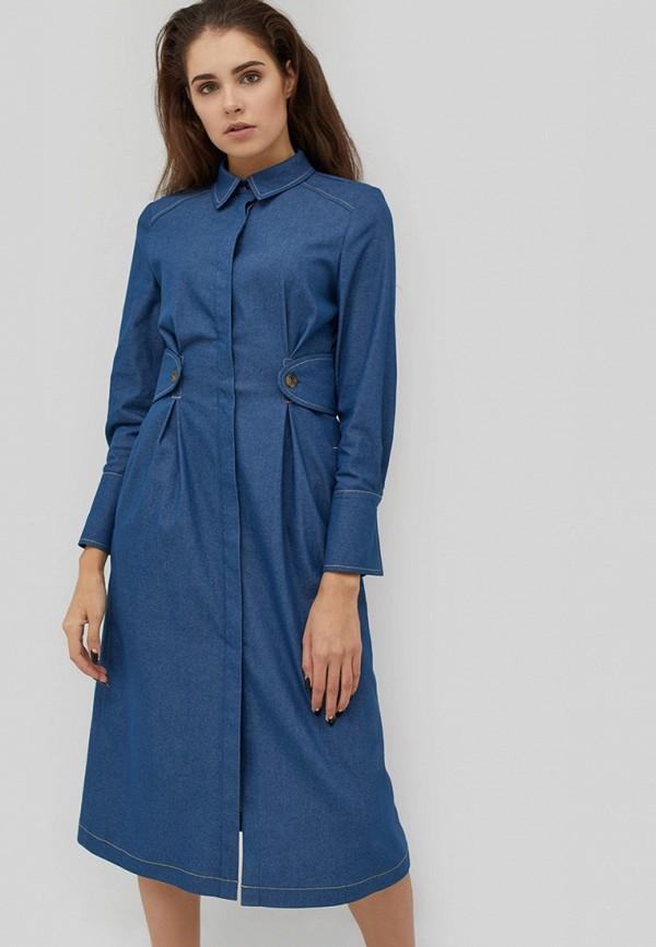 женское джинсовые платье cardo, синее