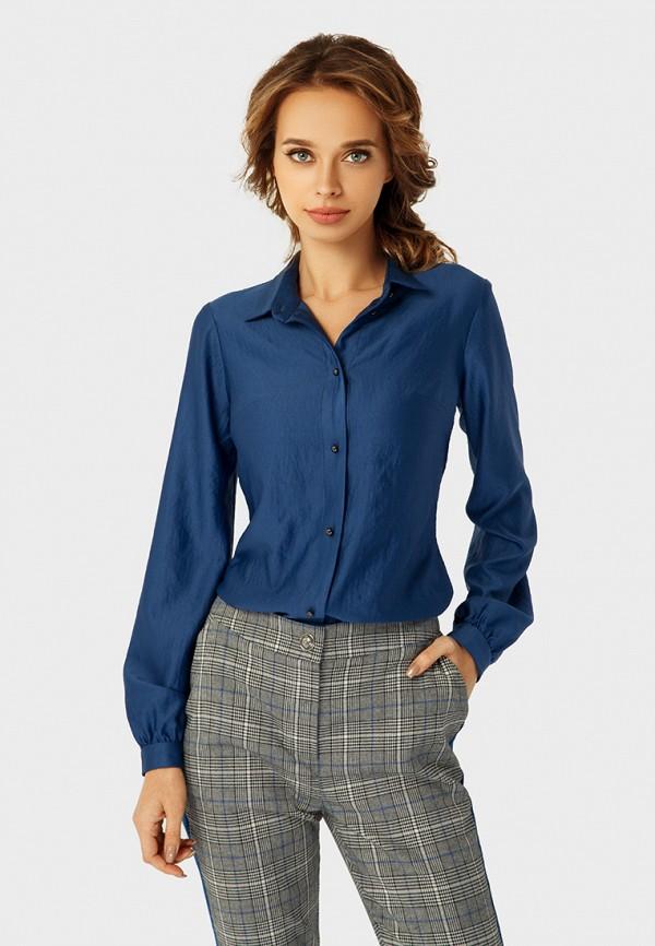 женская рубашка с длинным рукавом anushka by anna pavlova, синяя