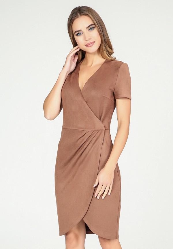 Платье  коричневый цвета