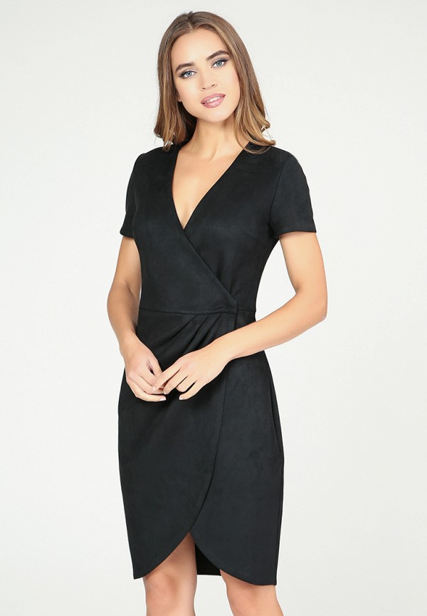 Платье  черный цвета