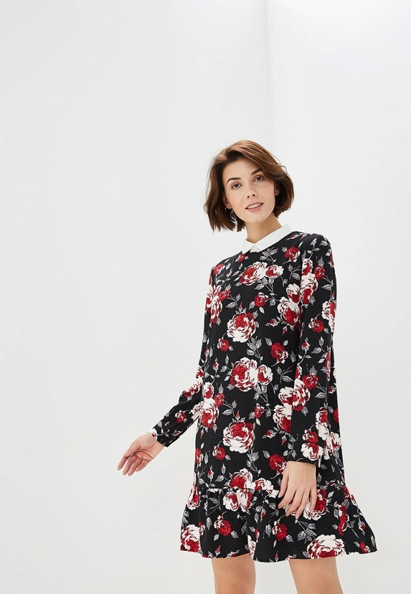 Платье  бордовый, черный цвета