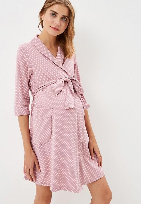 женский халат hunny mammy, розовый