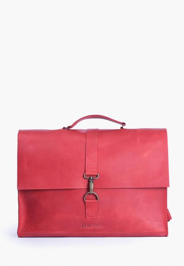 женская сумка incarne, красная