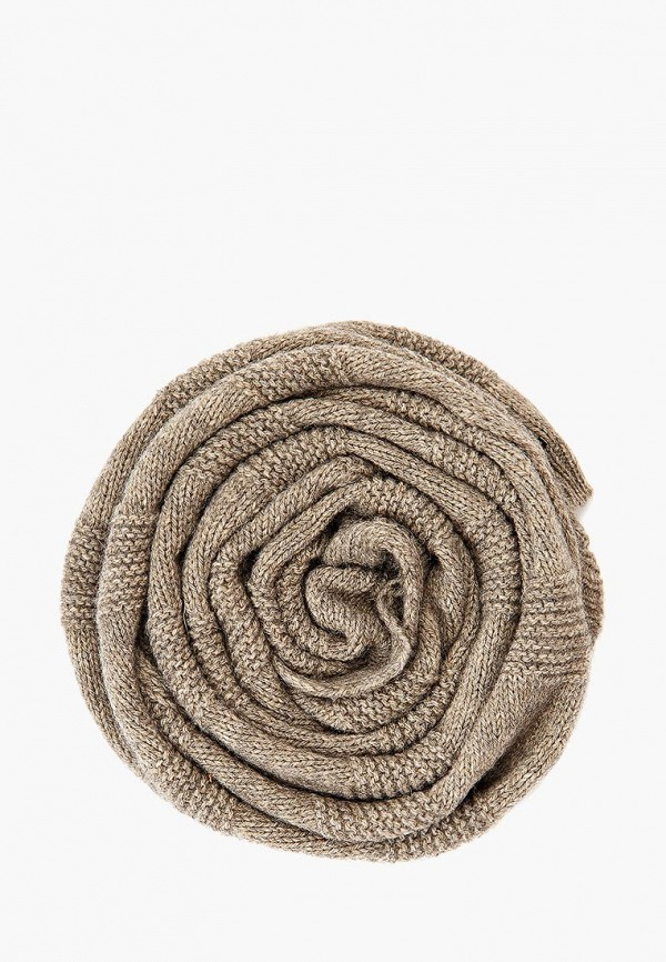 женский шарф finn flare, коричневый