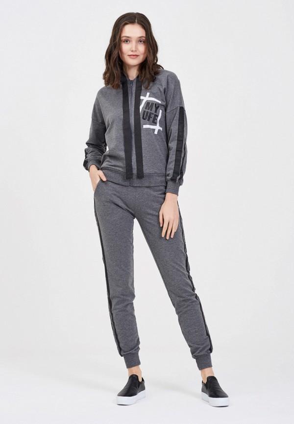 женский спортивные спортивный костюм whitney, серый