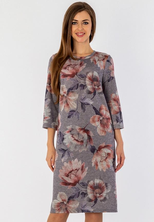 женское платье миди s&a style, серое