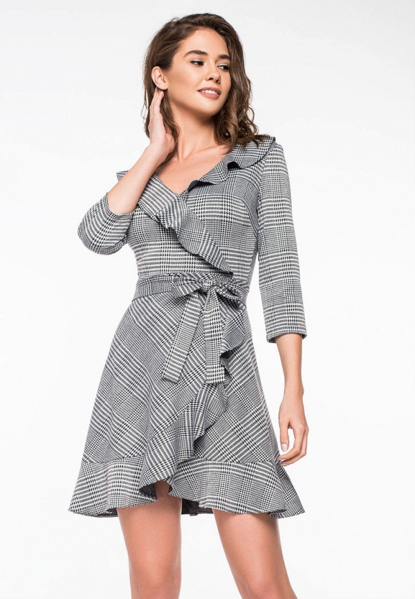 Купить Платье itelle, mp002xw1h6p4, серый, Осень-зима 2018/2019