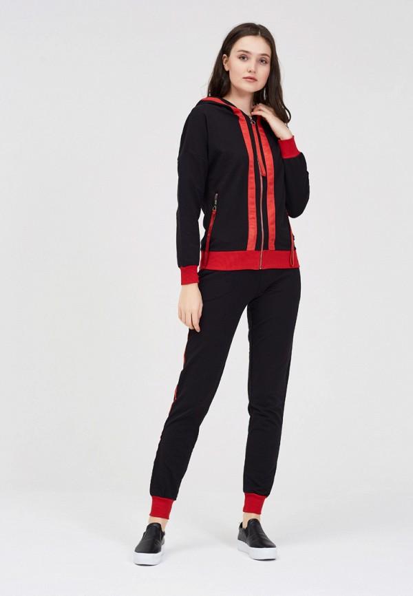 женский спортивные спортивный костюм whitney, черный