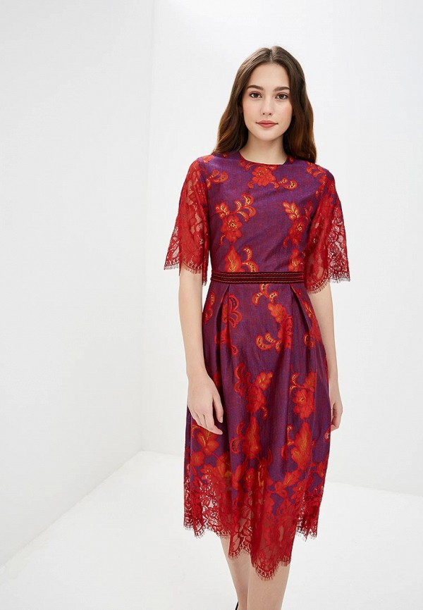 женское повседневные платье ksenia knyazeva, фиолетовое