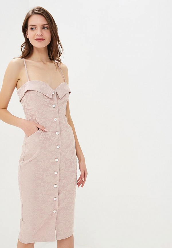 Купить Платье MiraSezar, Рамиза, mp002xw1h7p3, розовый, Осень-зима 2018/2019
