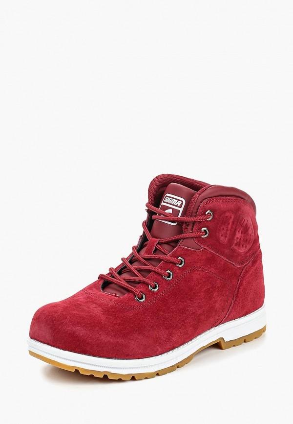 Купить Женские ботинки и полуботинки Sigma красного цвета