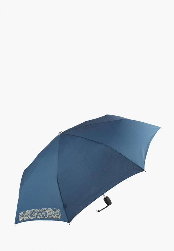 женский складные зонт edmins, синий