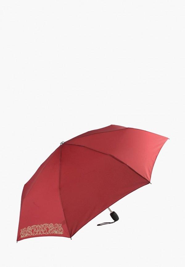 женский складные зонт edmins, бордовый