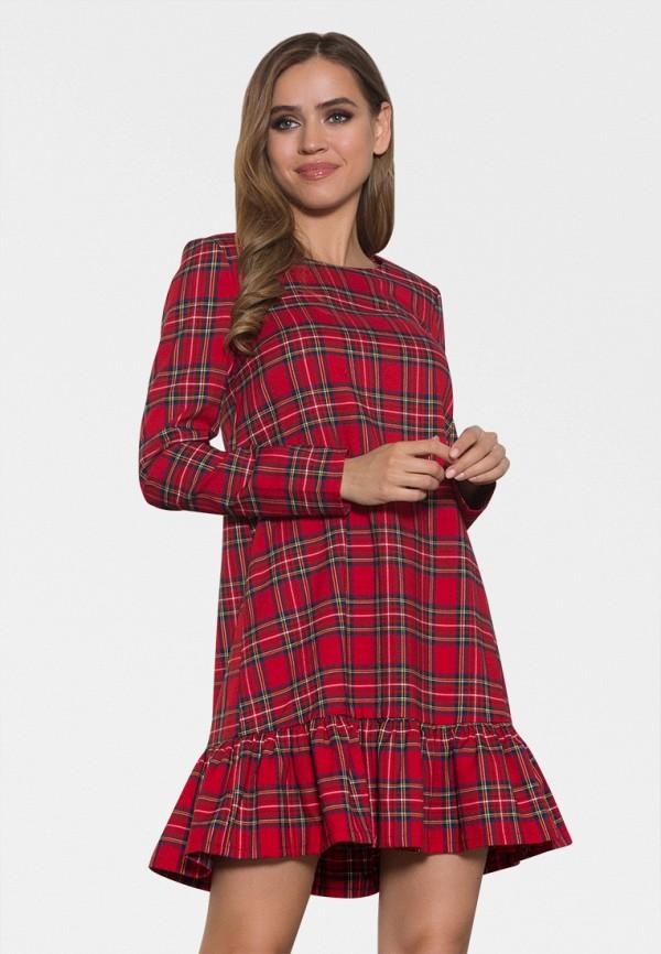 женское повседневные платье zerkala, красное