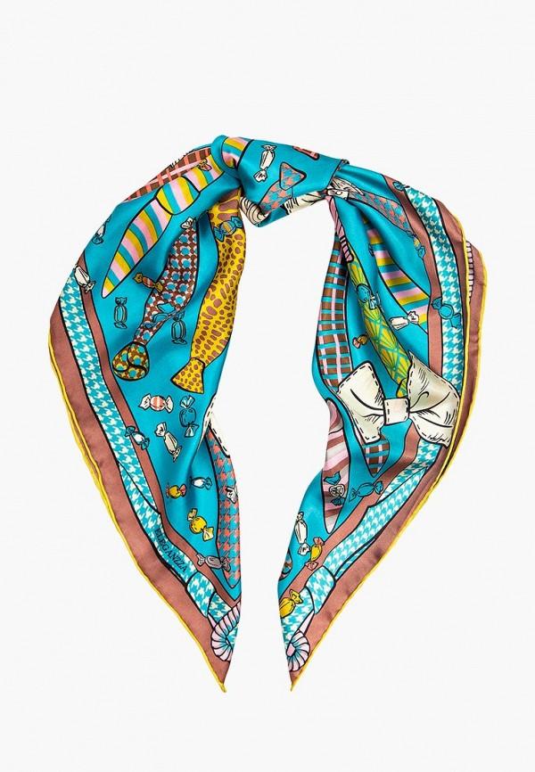 женский платок eleganzza, голубой