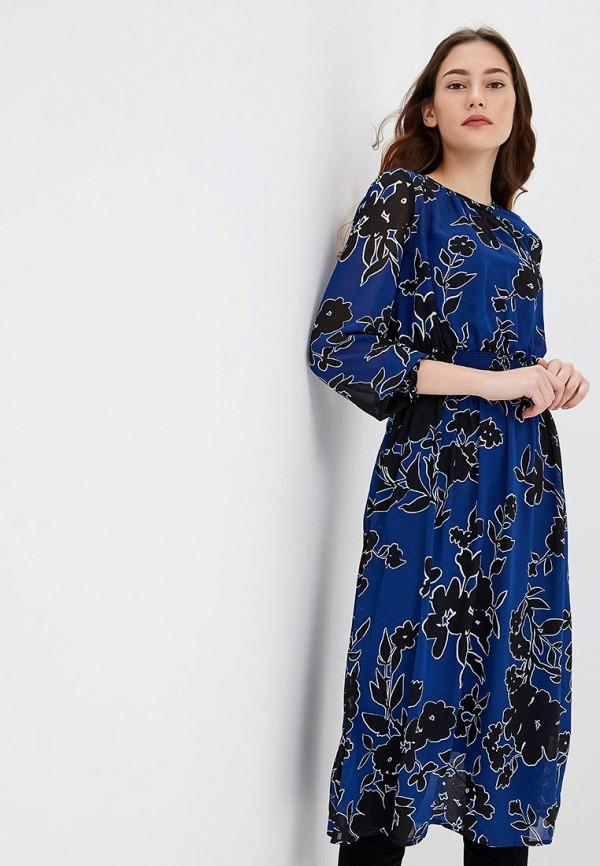 Купить Платье Incity, mp002xw1h8e4, синий, Осень-зима 2018/2019