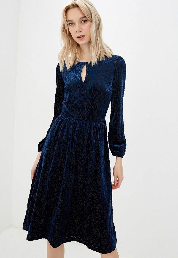 Купить Платье Incity, mp002xw1h8fa, синий, Осень-зима 2018/2019