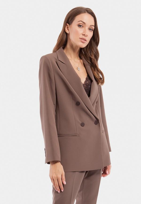 женский пиджак vladi collection, коричневый