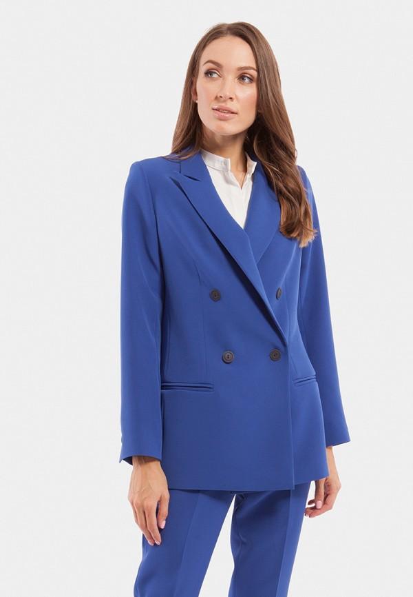 женский пиджак vladi collection, синий