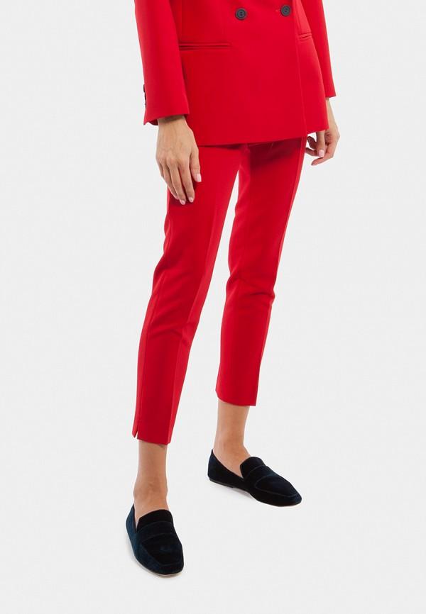 женские зауженные брюки vladi collection, красные