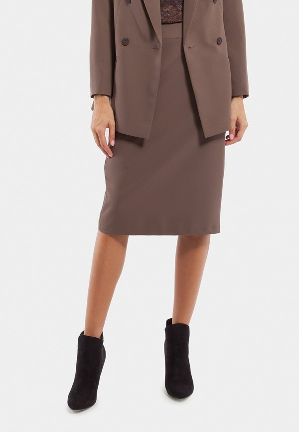 женская прямые юбка vladi collection, коричневая