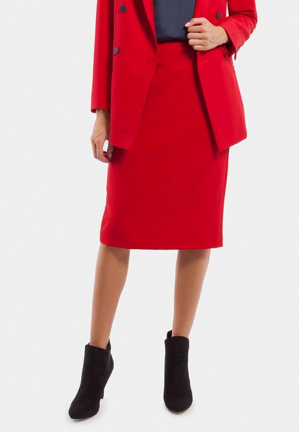 женская прямые юбка vladi collection, красная