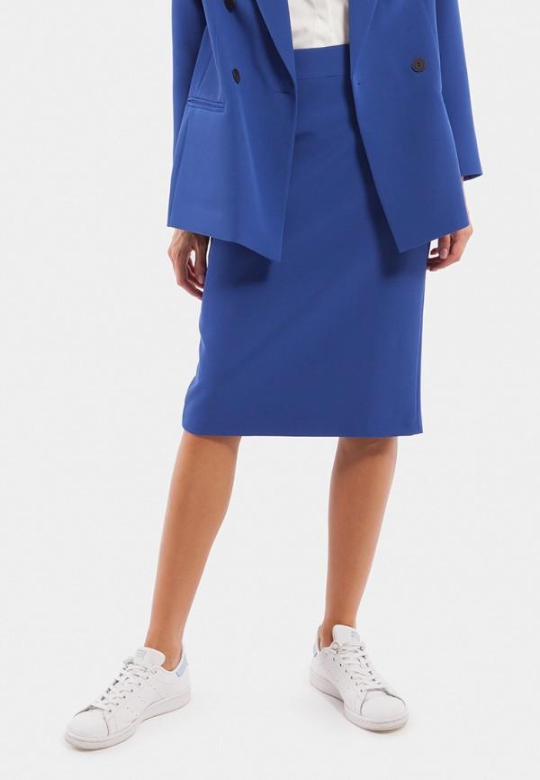 женская прямые юбка vladi collection, синяя