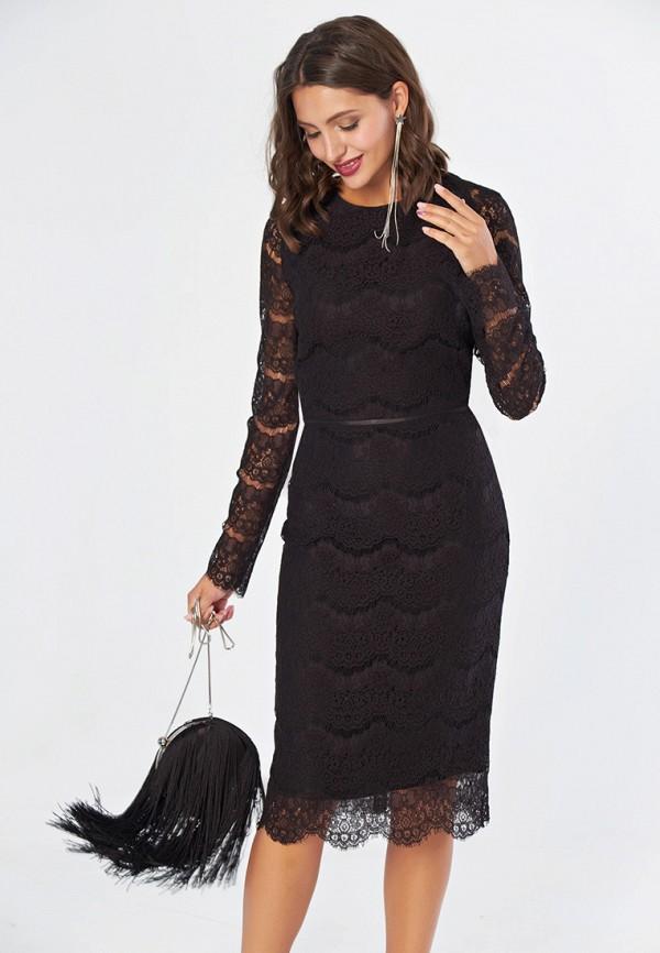 женское вечерние платье fly, черное