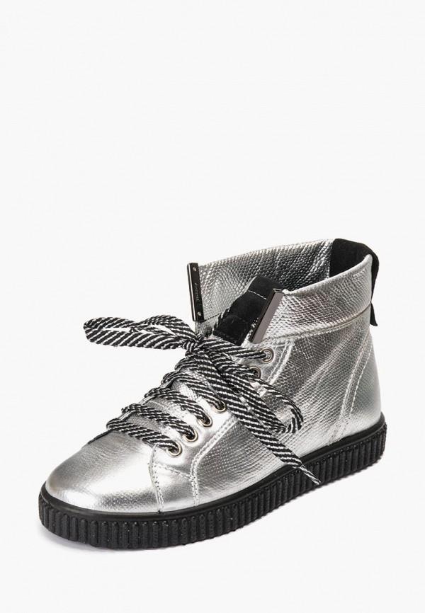 женские ботинки tellus, серебряные
