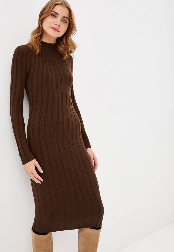 женское повседневные платье marytes, коричневое
