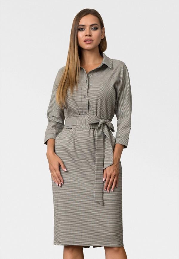 женское платье миди zerkala, серое