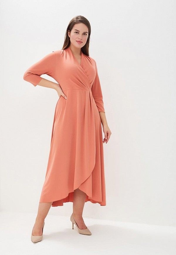 женское повседневные платье averi, оранжевое