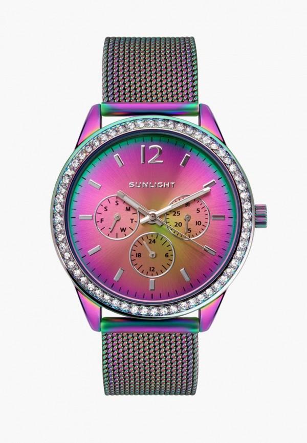 женские часы sunlight, разноцветные