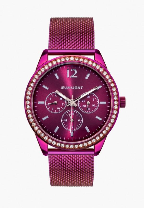 женские часы sunlight, фиолетовые