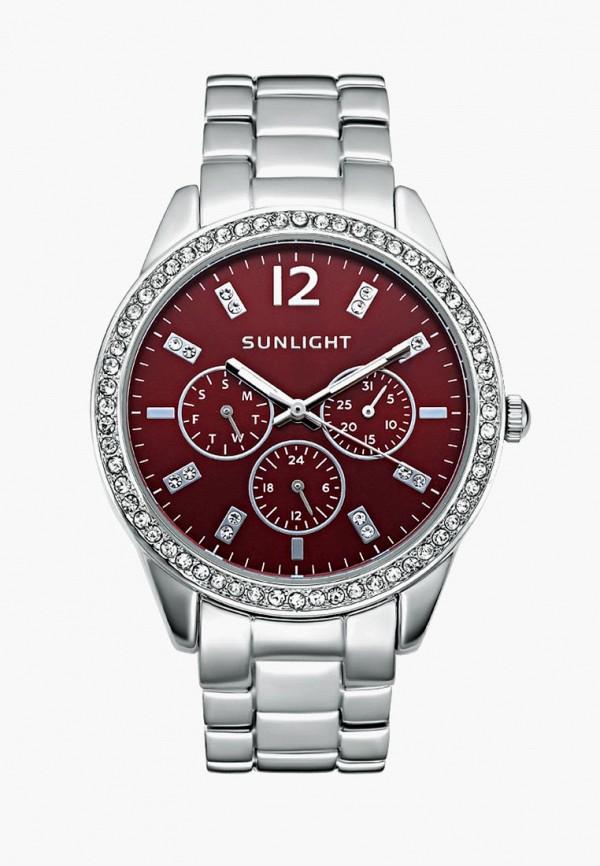 женские часы sunlight, серебряные