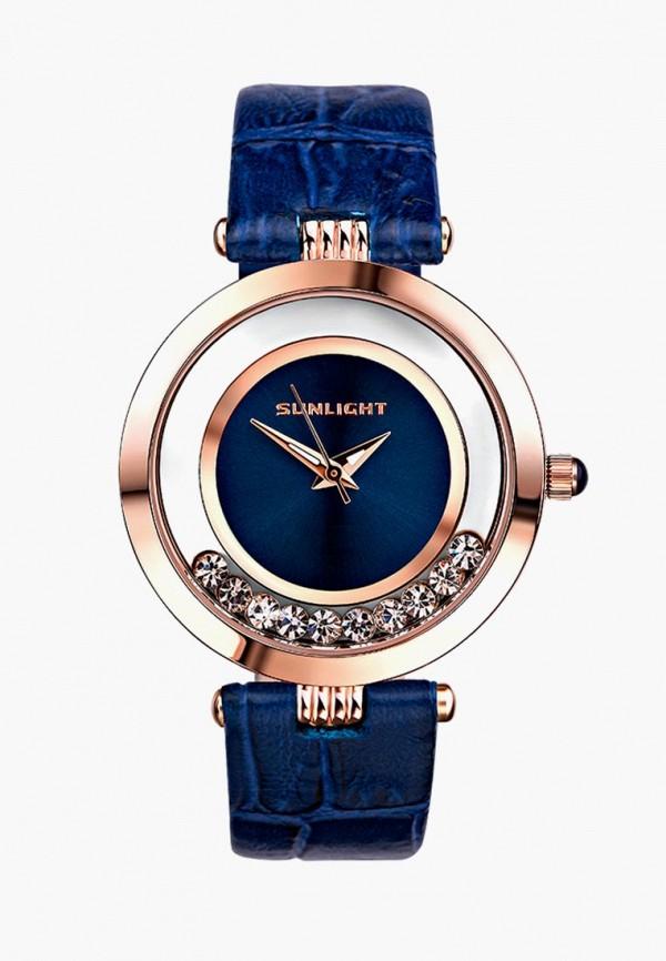 женские часы sunlight, синие