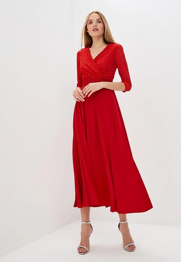 женское вечерние платье alina assi, красное
