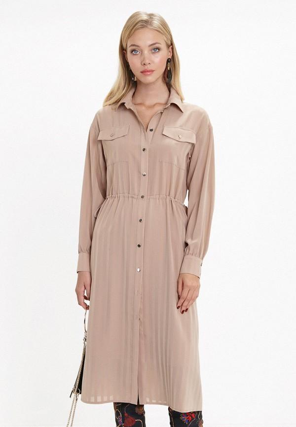 женское повседневные платье audrey right, бежевое