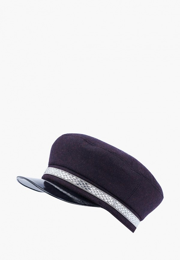 женская кепка forti knitwear, бордовая